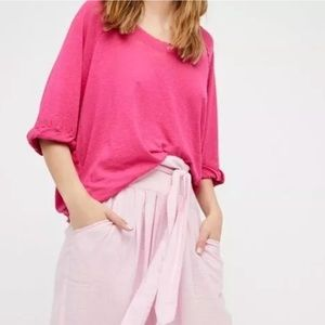 NWT Free People We The Free Moonlight Pink Tee